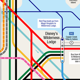 Unofficial Walt Disney World Resort® Transportation Map