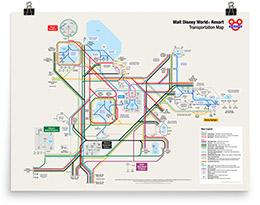 Unofficial Walt Disney World Resort Transportation Map